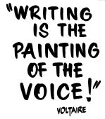 writing voltaire quote