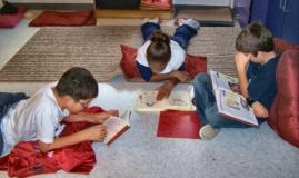 reading on floor