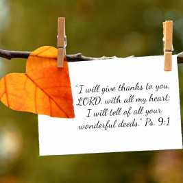 give thanks ps