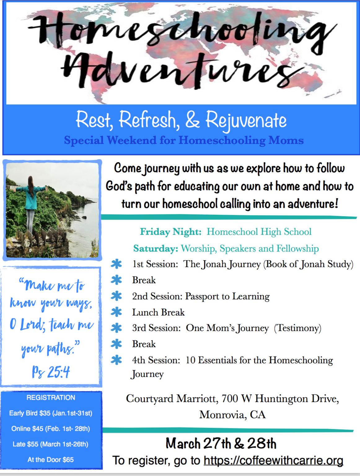 homeschool adventure new flyer image