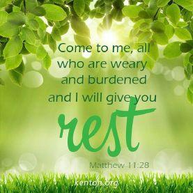 rest in lord burden verse sabbath
