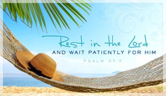 rest in lord sabbath verse