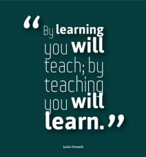 teach learn proverb